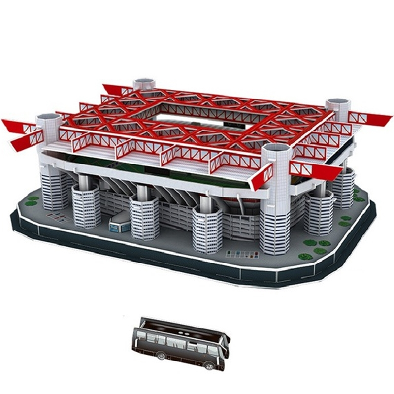 Classic Jigsaw Giuseppe Meazz San Siro 3D Puzzle Architecture Stadio Football Stadiums Toys Scale Models Sets Building Paper