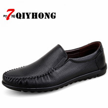 Slip On Casual Men Loafers Spring And Autumn Mens Moccasins Shoes Genuine Leather Men'S Flats Shoes Breathable Zapatos Hombre