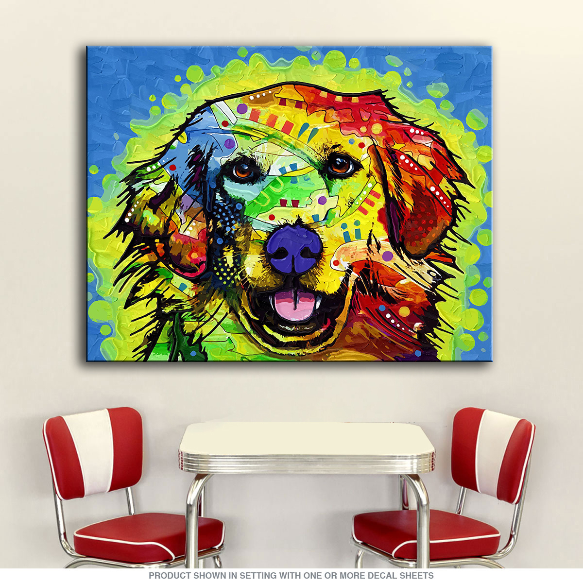 Direct Selling Special Offer Paintings Fallout Painting Golden Retriever Dog Home Decor Cuadros Canvas Wall Picture