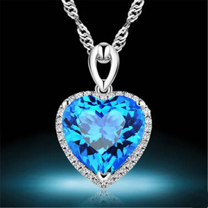 Image 2 - Heart Ruby Vintage Pendants S925 Sterling Silver Necklace Fine Jewelry Bridal Wedding Engagement Bijouterie No Chain