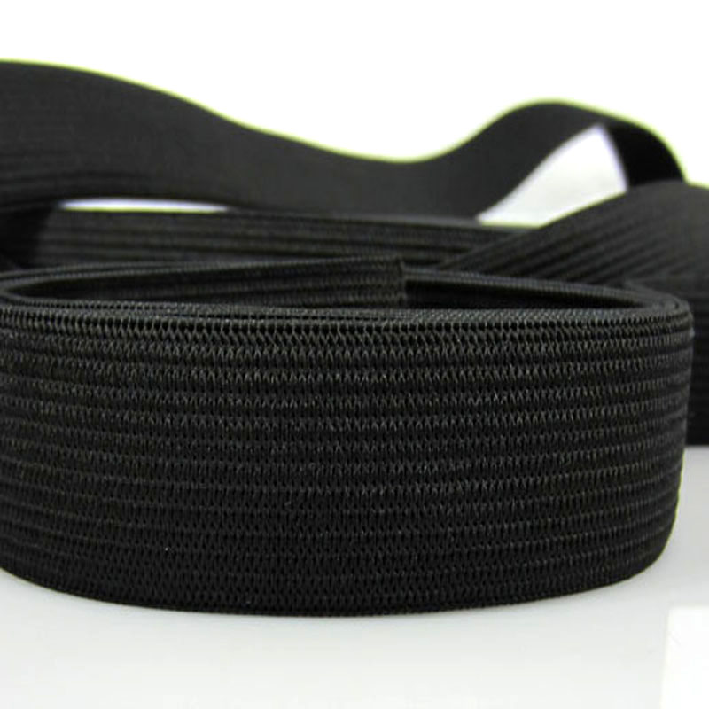 5yards 3 4 quot Black Soft Knit Braided Elastic Webbing Band For Sewing Garment Accessories 20mm braided elastic in Elastic Bands from Home amp Garden