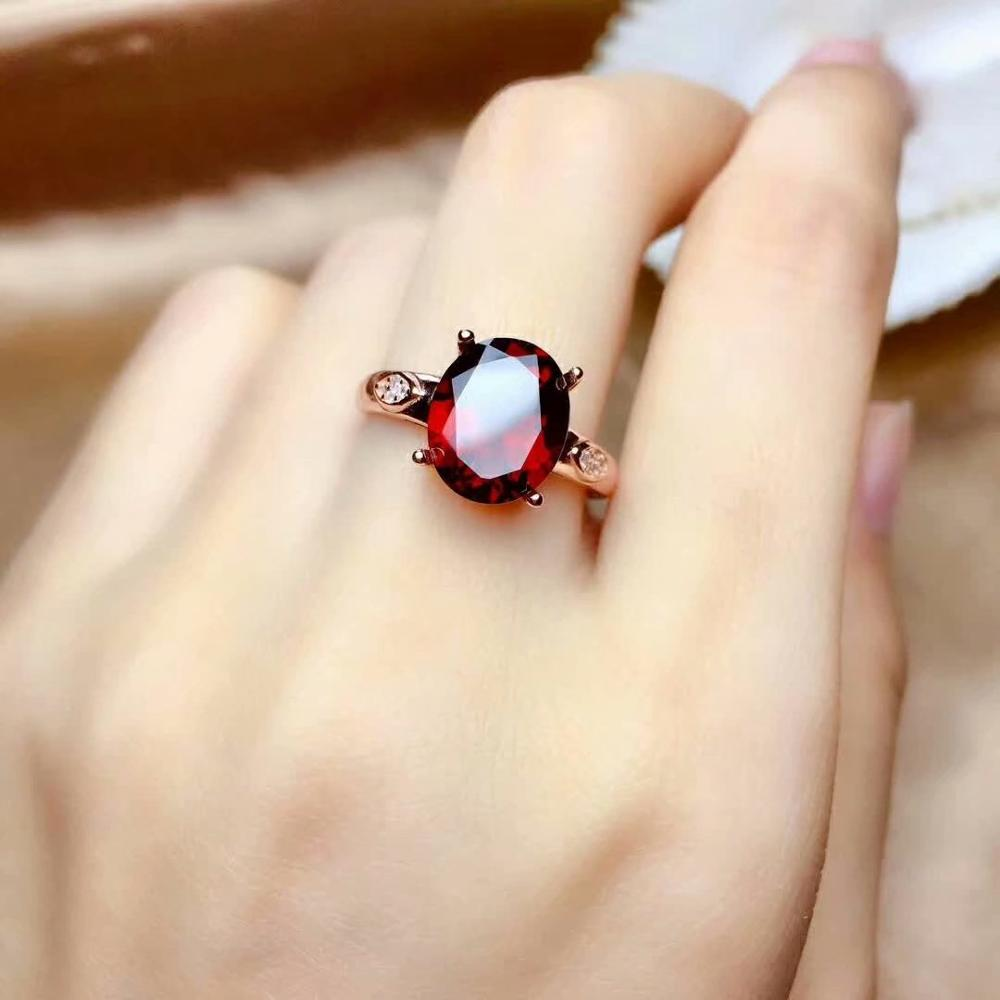 SHILOVEM real 925 sterling silver real Natural garnet rings fine Jewelry women wedding Christmas gift new 9*11mm mj0911022agsSHILOVEM real 925 sterling silver real Natural garnet rings fine Jewelry women wedding Christmas gift new 9*11mm mj0911022ags