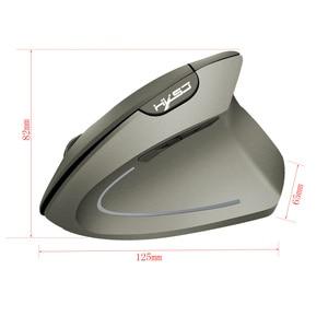 Image 4 - HXSJ new vertical wireless mouse 2.4G ergonomic wireless mouse 2400DPI adjustable for PC notebook USB2.0 black gray