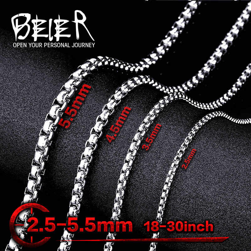 Wholesale Lots 316L Stainless Steel Pearl Necklace figaro chain necklace for Pendant Match Sweet Kolye For Man Woman CheapBN1010