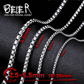 Мужская и женская цепочка, ожерелье из нержавеющей стали 316L с жемчугом и цепочкой в форме Фигаро, bn1010