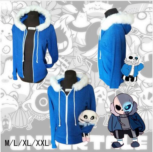 2017 Free PP Undertale Sans Papyrus Hoodie Coat Cosplay Costume Warm Zipper Winner Sweatshirt Halloween Pokemon Cosplay Costume