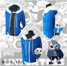 2017 Free PP Undertale Sans Papyrus Hoodie Coat Cosplay Costume Warm Zipper Winner Sweatshirt Halloween Pokemon