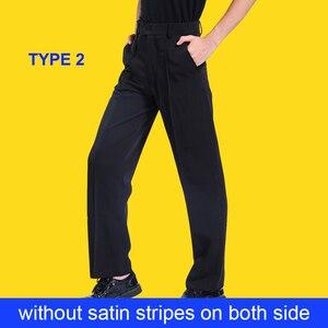 Image 4 - שחור לטיני מודרני אולם נשפים ביצועים מכנסיים בני גברים לטיני ריקוד מכנסיים