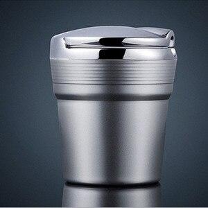Image 4 - LED 가벼운 담배와 자동차 재떨이 연기 여행 리무버 애쉬 실린더 자동차 무연 연기 컵 홀더 자동차 액세서리