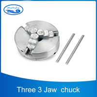 2 45mm Three 3 Jaw Chuck 1.8~56mm /12~65mm Z011 Clamping for Mini Lathe with Two Lock Rods M12x1mm Threaded Back