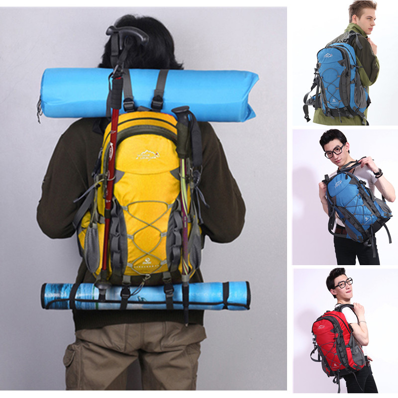 LOCAL LION Outdoor Sports Bag 40L Mountaineering Backpack Functional Men Women Bag Bolsas Femininas Hiking traveling