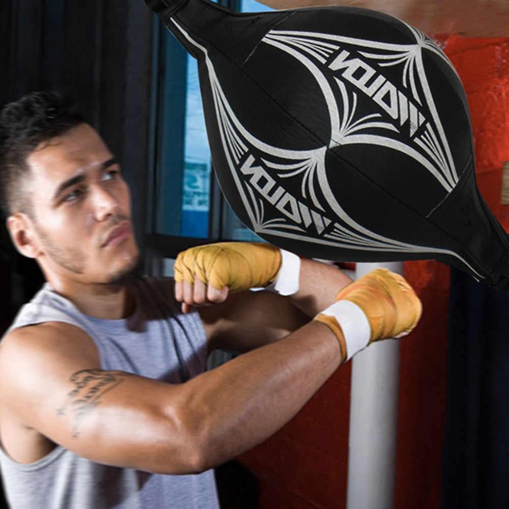 Skórzane bokserskie piłkę prędkość Dodge piłka dwukrotnie koniec Gym MMA boks sport worek bokserski, sięgające od podłogi do sufitu liny Workout piłka wysokiej jakości