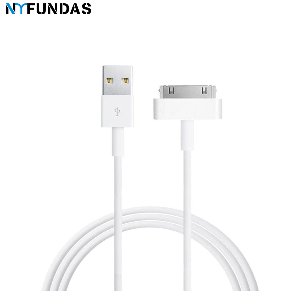 NYFundas usb data charger cable for iphone 4 4s ipod nano ipad 2 3 iphone 4 s 30 pin 1m cord usb charging cable kabel cargador|Mobile Phone Cables|   - AliExpress