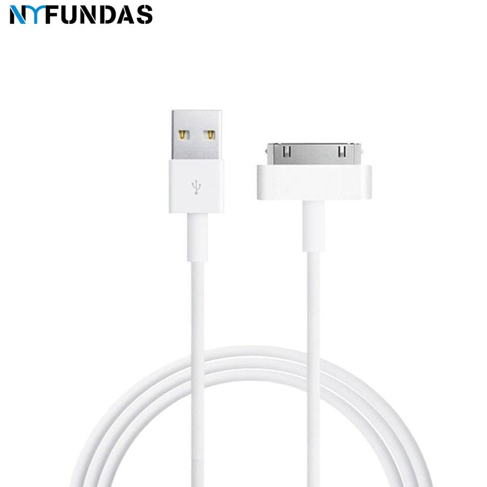 NYFundas usb-кабель для зарядки и передачи данных для iphone 4 4s ipod nano ipad 2 3 iphone 4 s 30 pin 1 м шнур usb-кабель для зарядки кабель зарядное устройство