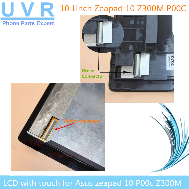 10.1 inch Touch Screen For ASUS ZenPad 10 <font><b>Z300M</b></font> P00C LCD Display Matrix Digitizer Assembly with frame p00c Z300MX image