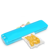 Food Vacuum Sealer Packaging Machine Film Sealer 220V/110V Vacuum Packer Saver Storage Rolls 10Pcs Bags