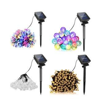 Solar Lights For Garden Decoration Fence Solar Lamp LED String Light Night Sensor Outdoor Holiday Wedding Christmas Decoration String Lights