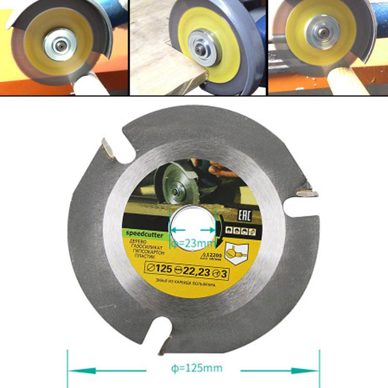 1 Piece 125mm Circular Saw Blade Angle Grinder Cutter Woodworking Cutting Power Tool Accessories