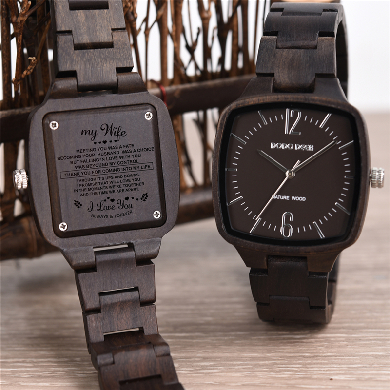 DODO DEER Wood Engraving Watch Men Woman Wooden Gift Personalized Watches Special Groomsmen Present Great Gifts Dropshipping C05DODO DEER Wood Engraving Watch Men Woman Wooden Gift Personalized Watches Special Groomsmen Present Great Gifts Dropshipping C05