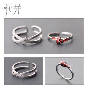 Image 5 - Thaya bague s925 en argent, anneau avec nœud rouge, anneau de saint valentin, robe boho, bijoux coréens, cadeau amoureux pour femmes