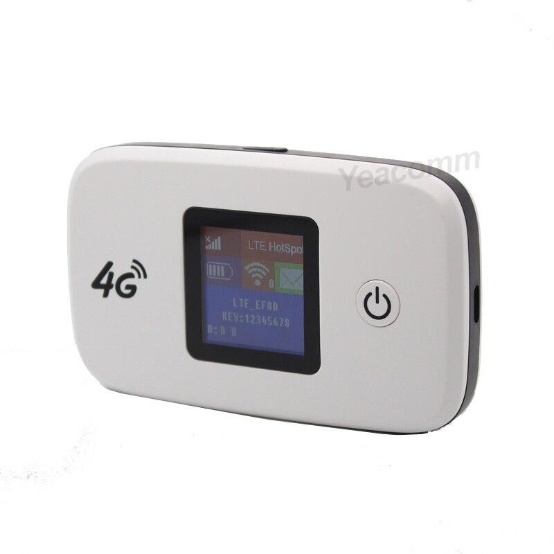 Livraison Gratuite! Le plus récent routeur sans fil Portable 4G LTE 150 Mbps 2400 mAh voyage Mini routeur WiFi avec fente pour carte SIM