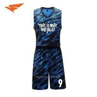 Men Basketball Kits Customized Basketball Uniforms Adult 3D Printed Basketball Sets DIY Basketball Jerseys New 2017