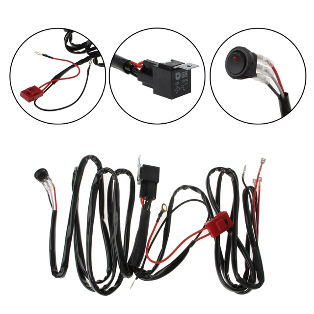 led light bar wiring harness for boat suv off road atv 40 relay Automotive Wire led light bar wiring harness for boat suv off road atv 40 relay switch kit