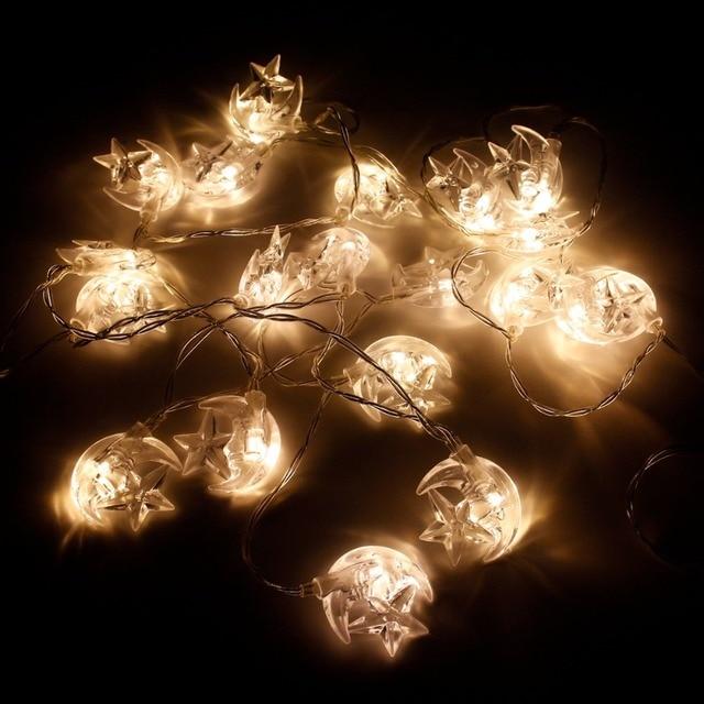 HUIRAN EID MubarakแถบไฟLed Star Ledไฟตกแต่งEIDอุปกรณ์รอมฎอนตกแต่งมุสลิมอิสลามตกแต่งEid al Adha