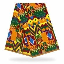 6 Yards Mitex Wax Print/ African Kente Print Fabrics Kitenge/Pagnes/Tissues Africain/ Lapa/Chitenge YBGHL-390