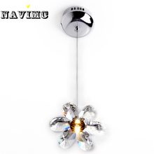 DIY Mini Modern Flower Crystal Pendant Lights Hanging Lamp Crystal Lighting Fixture Droplights For Dining Bedroom Free Shipping