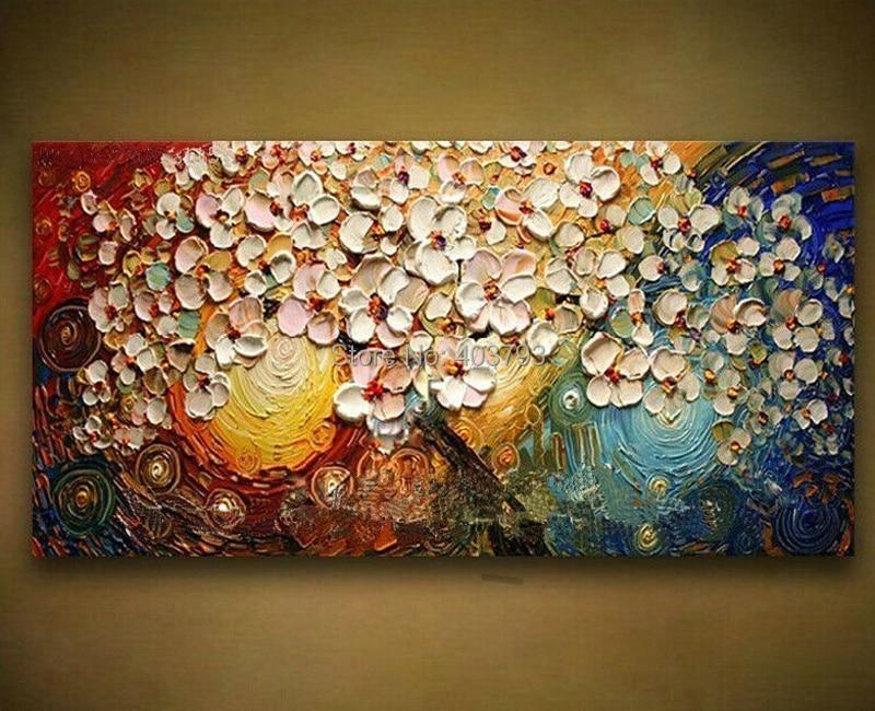 Immense mur art moderne mode peinture à l'huile sur toile beau couteau riche arbre peinture pour la décoration de la maison pas encadré 60X120 cm