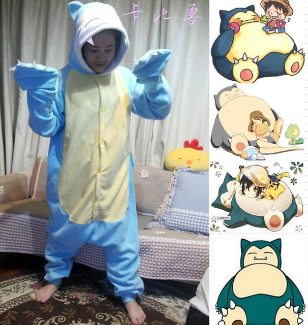 Kigurums New Winter Sleepsuit Adult Cartoon Snorlax beast Onesie Unisex  Animal Onesies Costumes Sleepwear Pajamas Cosplay 3f913ead8