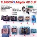 Tl866cs programador 9 adaptadores + IC clipe TL866 PLCC AVR PIC Bios 51 MCU EPROM programador manual russo inglês