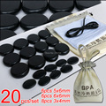 New! 20pcs/set Hot stone SE pendant set Beauty Salon SPA with heater bag CE and ROHS