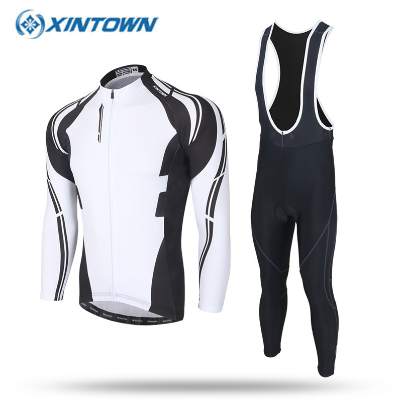 ФОТО XINTOWN 2017 Cycling Jersey Long Sleeve Men Maillot Ropa Ciclismo/Pro Team MTB Clothing Clothes Long Sleeves Black