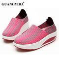 2017 Women's Casual Shoes Slip on Fitness Shoes Platform Shoes Fashion Women Shoes Swing Breathable trainners ST45