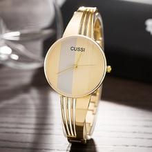 CUSSI Fashion Horloges Dames Vergulde stalen armband Dameshorloge Horloges Goud / Zilver / Roségoud Quartz-horloge Relogio Feminino