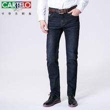 Cartelo крокодил 2016 мужские длинные джинсы марка эластичный soft skin атака мода джинсы бизнес случайный стиль
