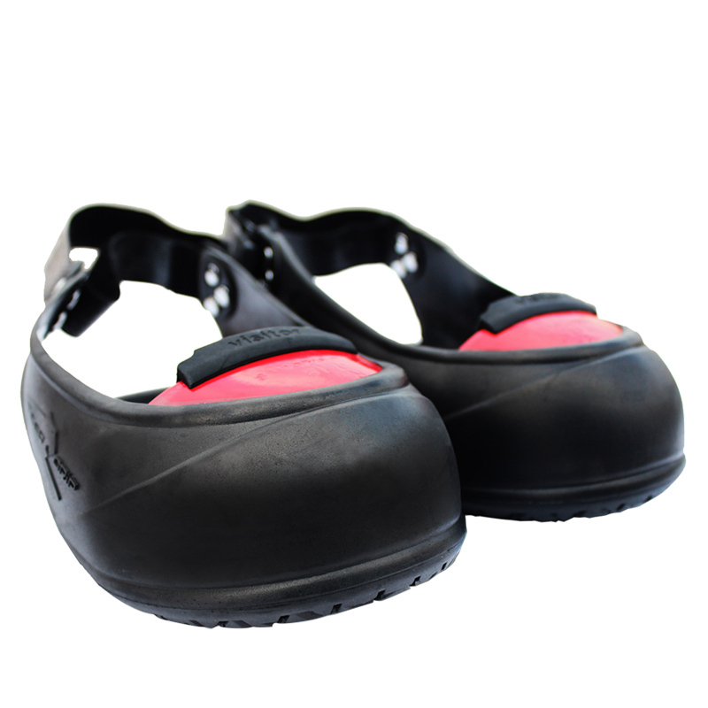 Visitor slip resistant hit resistant rubber industrial safety shoes cover with steel toe 200J impact protective overshoes comfortable safety shoe cover rubber women lightweight oil slip resistant kitchen shoes flat shoes chef overshoes without lace