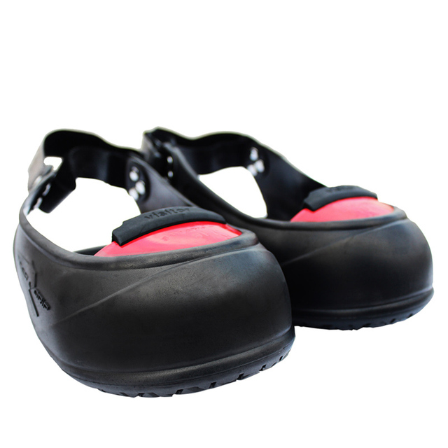 61590b9e345 US $33.0 |Visitor slip resistant hit resistant rubber industrial safety  shoes cover with steel toe 200J impact protective overshoes-in Safety  Clothing ...
