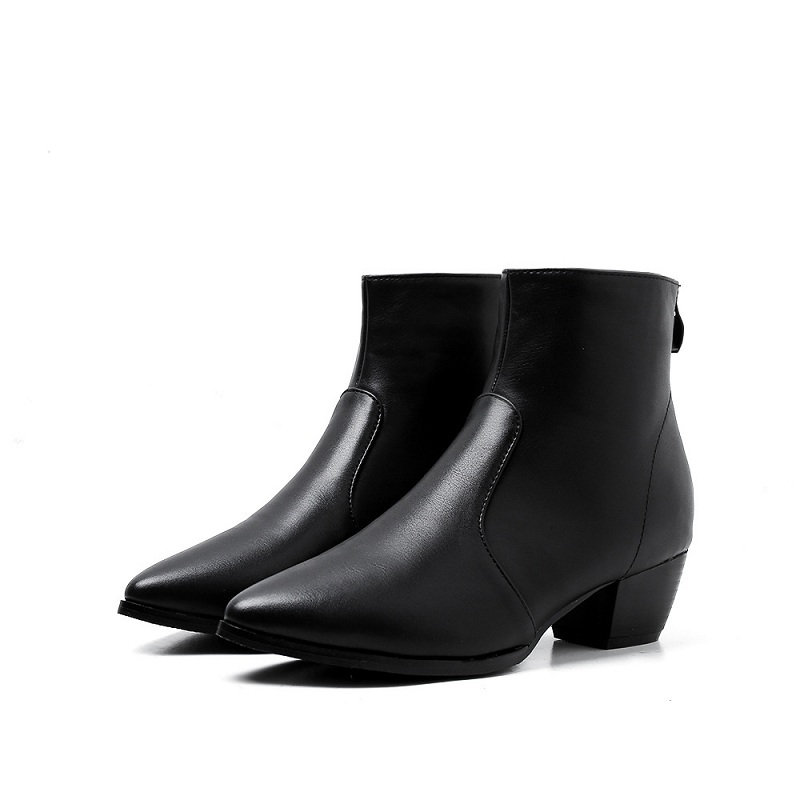 2018 autumn new womens shoes British wind zipper pointed low tube Martin boots womens booties black ljj 01102018 autumn new womens shoes British wind zipper pointed low tube Martin boots womens booties black ljj 0110