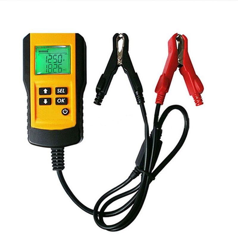 12 V voiture batterie testeur véhicule voiture LCD numérique batterie Test analyseur automatique système analyseur tension ohm CCA Test outil de Diagnostic