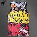 Aelfric Eden Мужская Мода Жилет Мужская 3d Печати Gymshark Граффити Дышащий Повседневная Майка Хип-Хоп Личности Майка