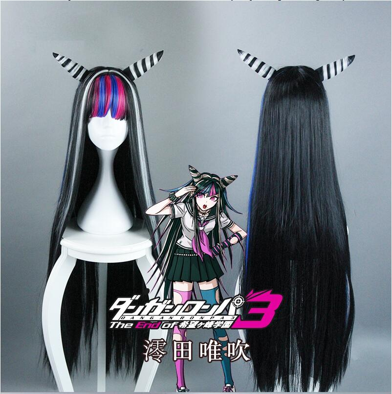 Anime <font><b>Danganronpa</b></font> Dangan Ronpa Mioda Ibuki Cosplay Wigs 100cm Long Heat Resistant Synthetic Hair Cosplay Wig + Wig Cap image