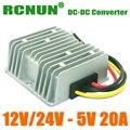 Dc para DC Buck módulo regulador 12 V 24 V para 5 V 20A 100 W Car LED de alimentação à prova d ' água