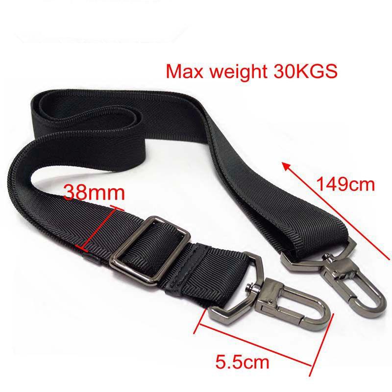 38mm Max 30KGS Strong Hook Nylon Belt Accessory,men Bags Long Shoulder Strap,man Briefcase Bag Straps,repair Bag Shoulder Strap