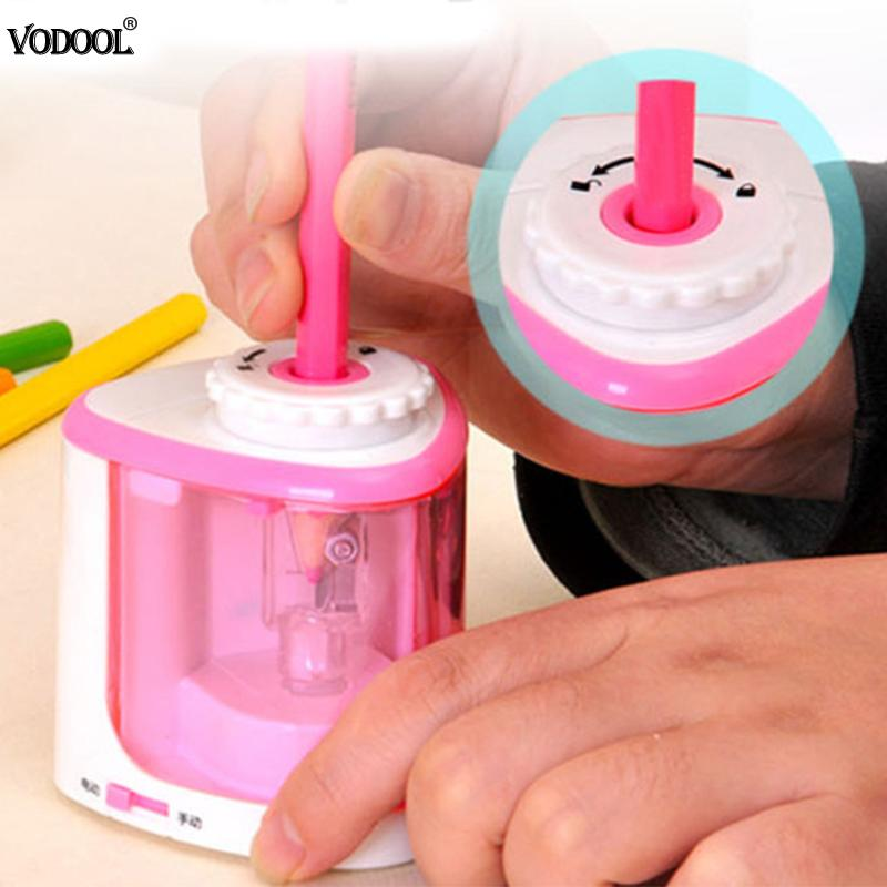 Automatic Electric Pencil Sharpener Battery Operated Students Learning Tool School Stationery Supplies Home Pencil Sharpener цена 2017