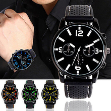 Hot! Men Fashion Numeral Dial Silicone Band Sport Analog Quartz Wrist Watch