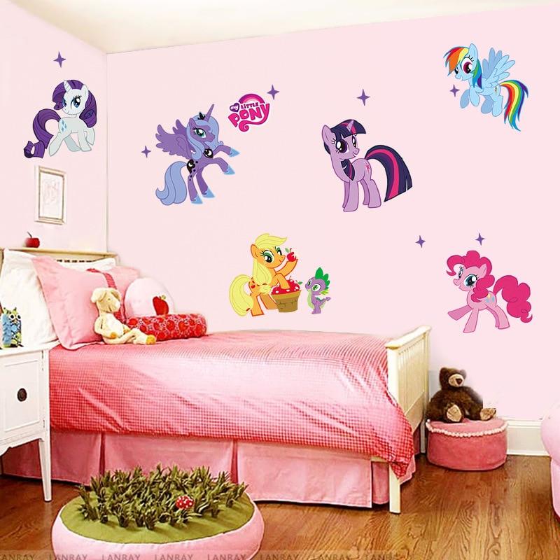 Venta Caliente Kid Pegatinas De Pared My Little Pony 6