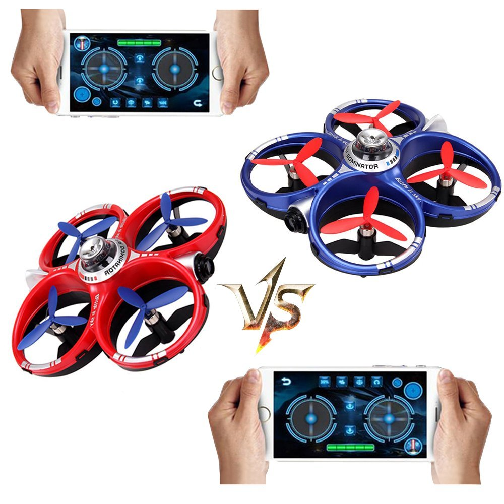 Cheerson CX-60 CX60 AIR Dominator 2.4G 4CH 6 Axis Gyro Mobile WIFI RC Fighting Drones - Red+Blue f09166 10 10pcs cx 20 007 receiver board for cheerson cx 20 cx20 rc quadcopter parts
